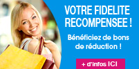 fidelite, programme de fidelite, fidelisation, cheque cadeau, coupon de reduction, code avantage